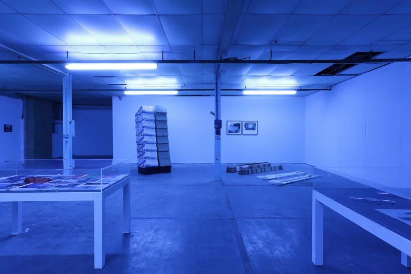 Mario Pfeifer: Approximation in the digital age to a humanity condemned to disappear, installation view at CIRCA Projects, 2015