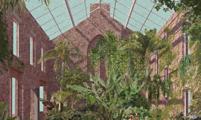 Assemble's proposed plan for a winter garden as part of the Granby Four Streets project