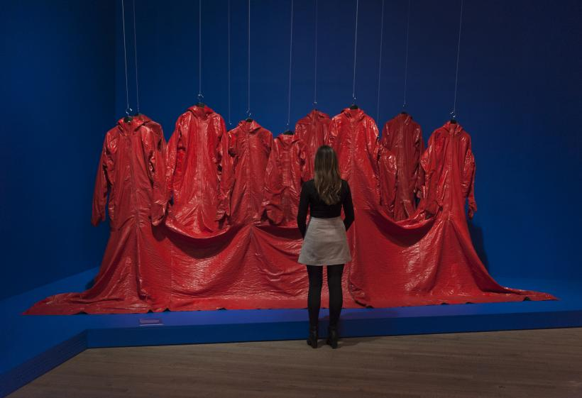 Installation views of  The EY Exhibition: The World Goes Pop, Tate Modern, 17 September - 24 January 2015, Nicola L, Red Coat, 1973
