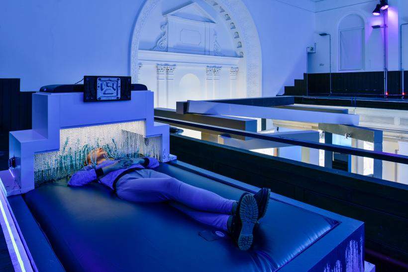 Installation view Jon Rafman, 2015 at Zabludowicz Collection, London.