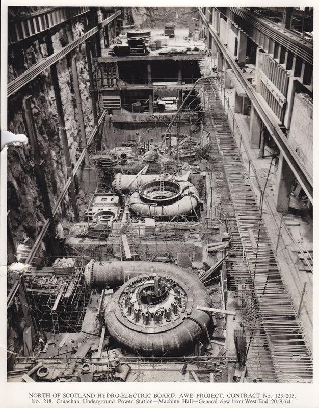 Construction of the turbines, circa 1963