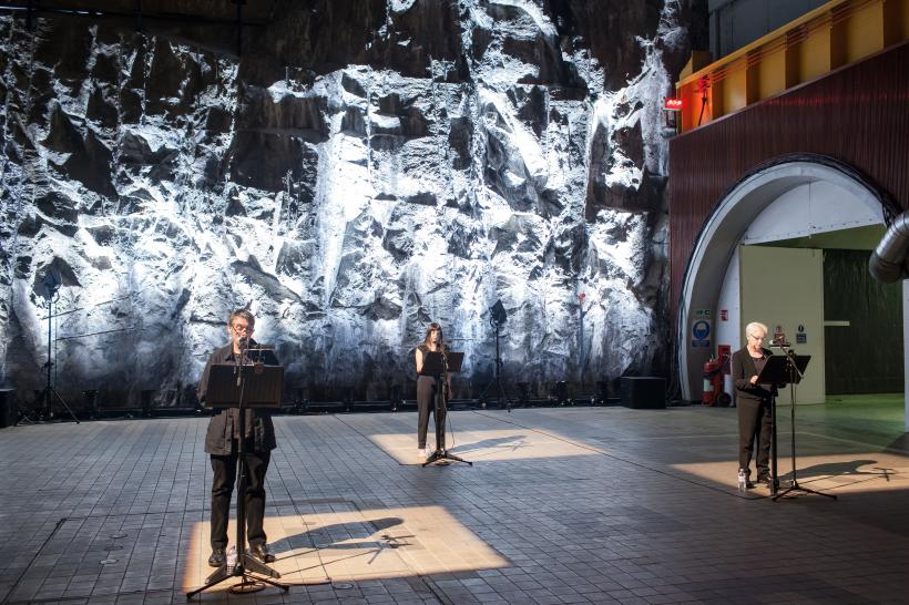 Master Rock by Maria Fusco, performed inside Cruachan Power Station, 2015.