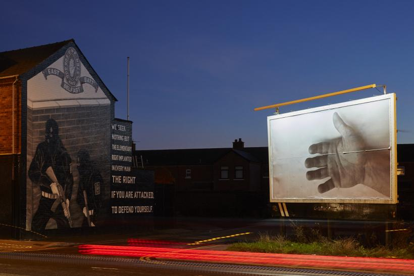"Felix Gonzalez-Torres, ""Untitled"" (For Jeff), 1992, Billboard Installation view on Newtownards Road, Belfast"