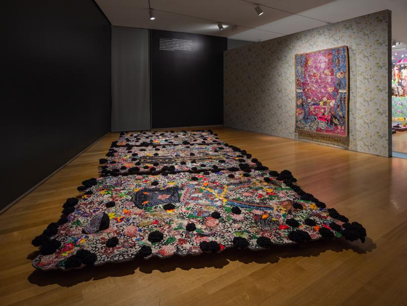 Installation View of Ebony G. Patterson: Dead Treez at the Museum of Arts and Design