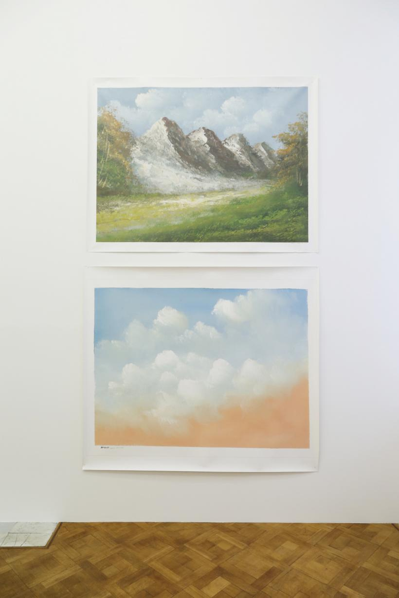 Painting Clouds, Installation View