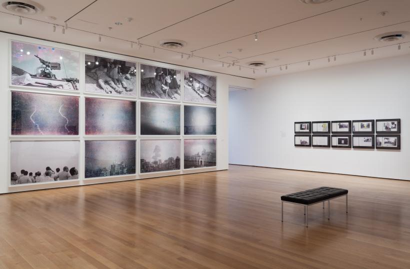 Installation view of Walid Raad, The Museum of Modern Art, October 12, 2015-January 31, 2016