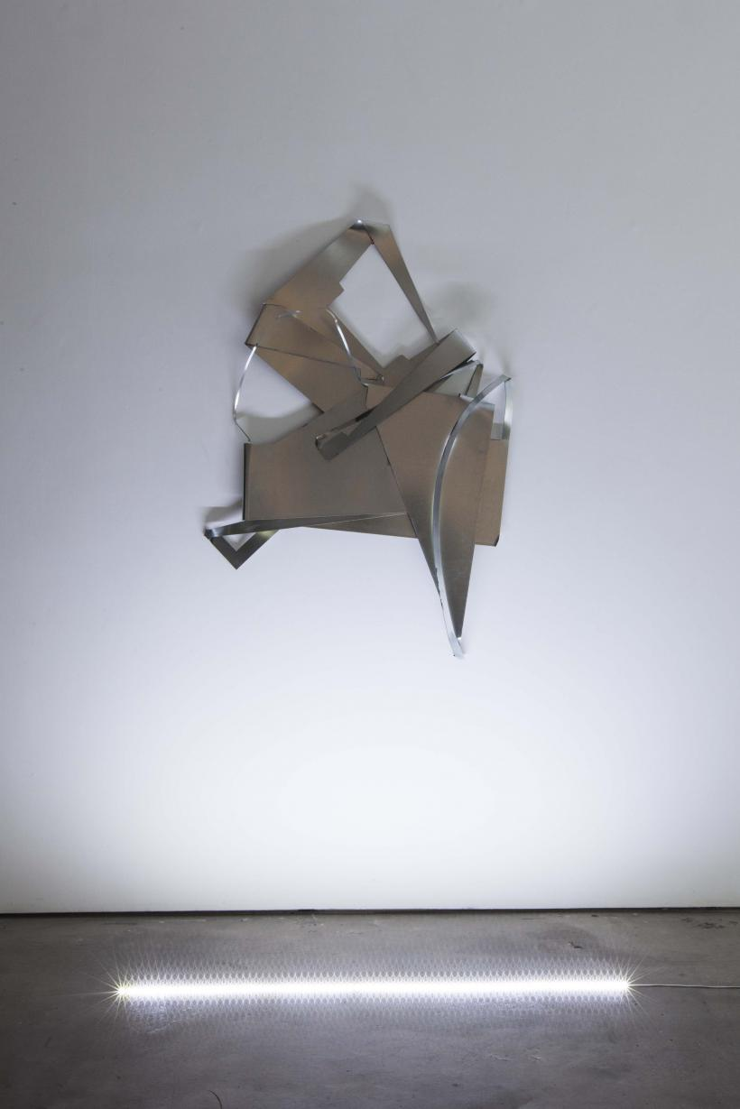 Ryan Foerster, Untitled, 2015, Aluminum, 132.1 x 96.5 x 25.4 cm