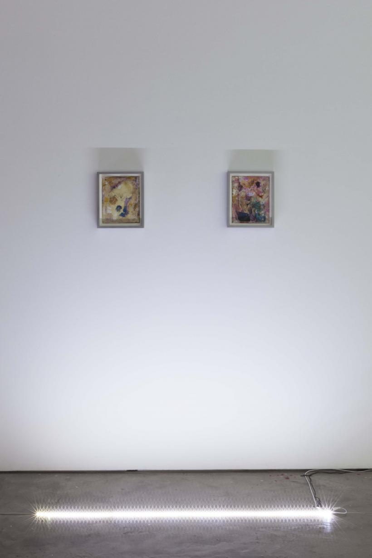 Ryan Foerster, (l) Untitled, 2008 – 2015, C-print, polyurethane, crab shell and debris, 25.4 x 20.3 cm; (r) Dan Bill Ass Tat, 2004-2015, C-print, polyurethane, hair and debris, 25.4 x 20.3 cm
