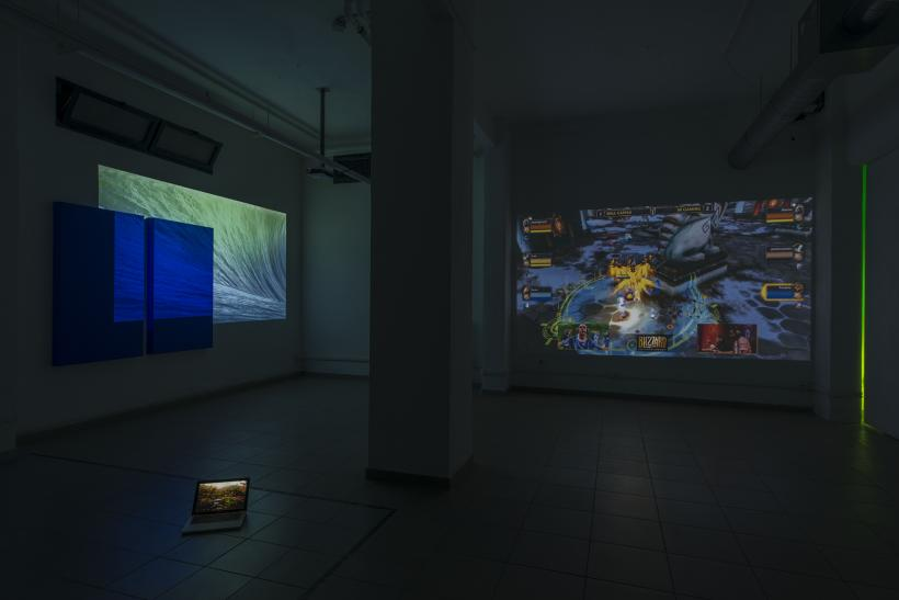 Over Yonder, installation view (basement)
