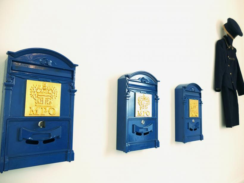 Installation view, Missing Post Office UK