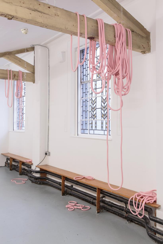 Jemma Egan, Porkies, 2015-16, installation view Zabludowicz Collection Invites: Jemma Egan, 2016.