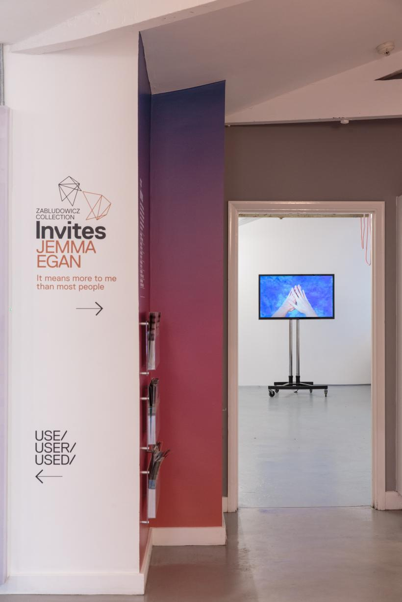Installation view Zabludowicz Collection Invites: Jemma Egan, 2016.