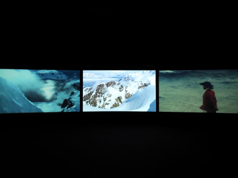 John Akomfrah, Vertigo Sea, 2015, installation view at Arnolfini
