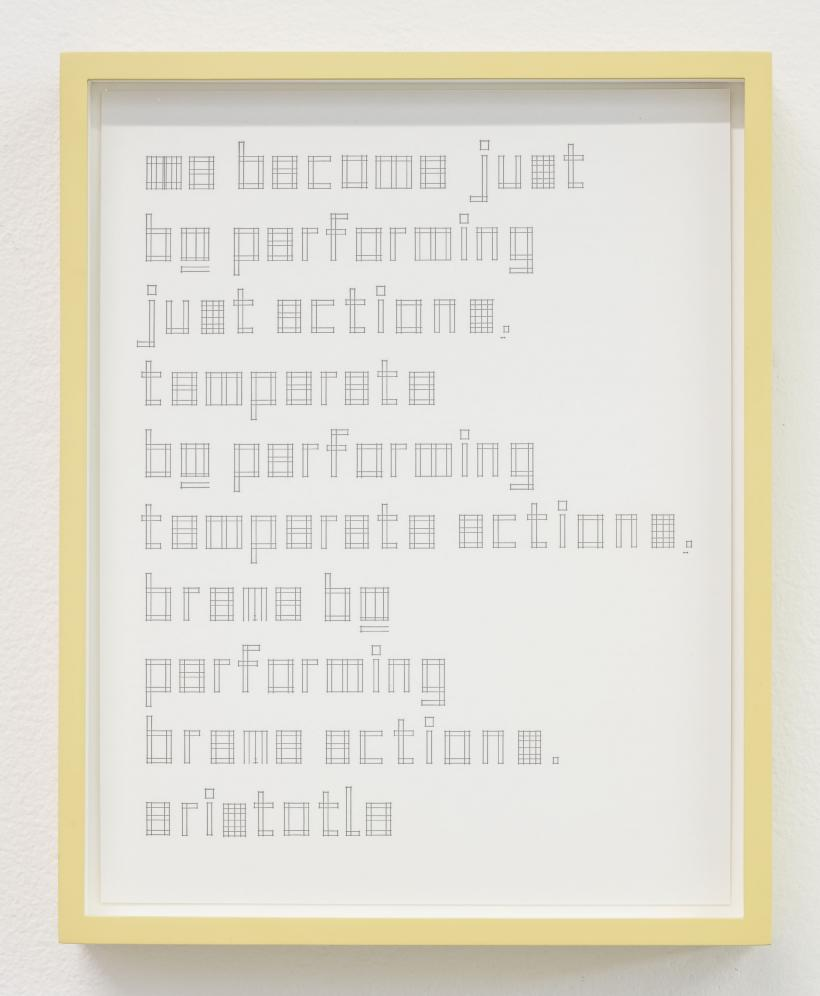 Brian Groombridge, dd/mm/yyyy, 2015, letterpress with painted frame