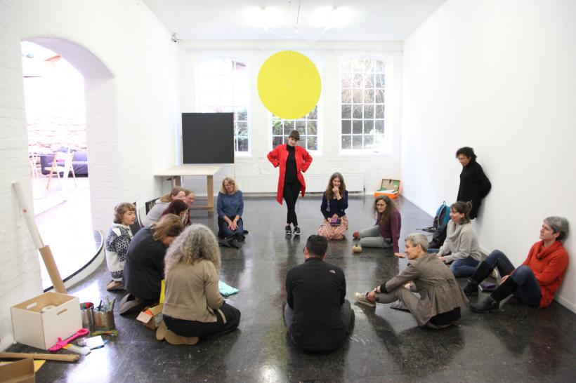 Preston Street Union working with Emily Warner, part of Trevor Pitt residency at Spacex, 2015