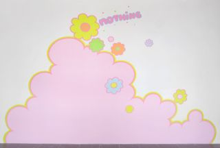 Lily van der Stokker, Nothing, 1992-1993, Acrylic paint on wall