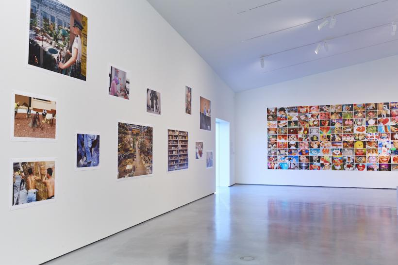 Installation view of 'The Rhubarb Triangle & Other Stories: Photographs by Martin Parr' at The Hepworth Wakefield