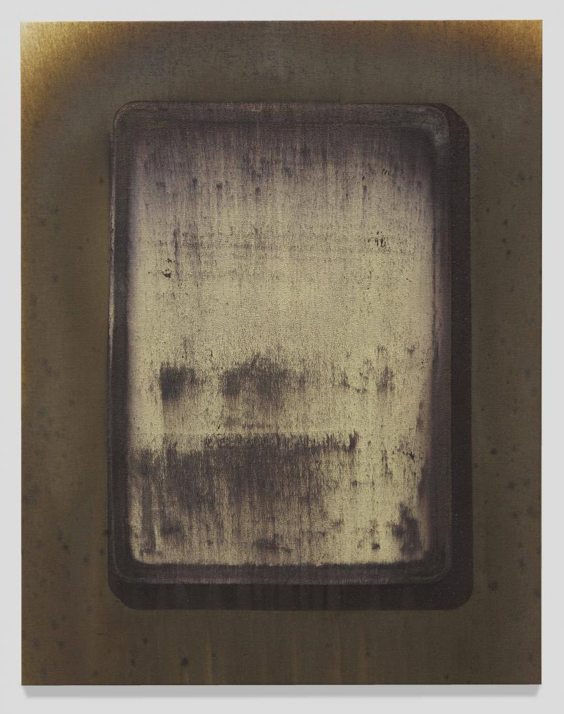 Michael Joo, Untitled, To (Drive), 2015-2016, Silver nitrate and epoxy ink on canvas