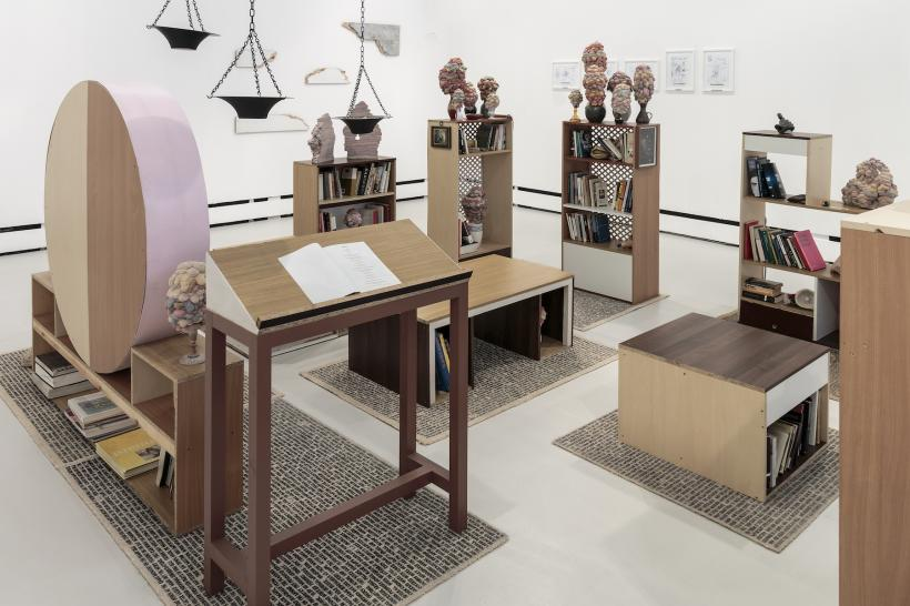 Andy Holden, The Dan Cox Library for the Unfinished Concept of Thingly Time, 2011 (detail)