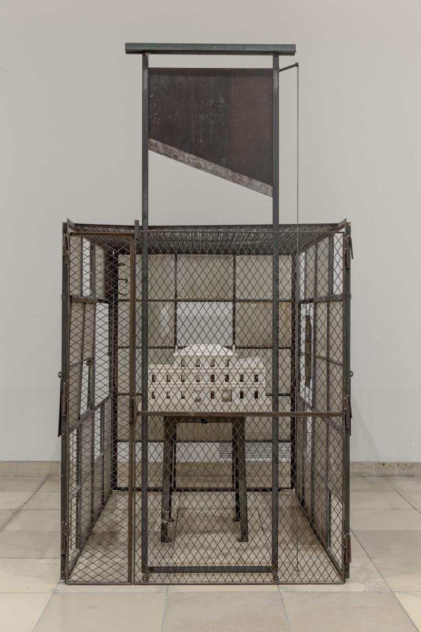 Louise Bourgeois, Cell ( Choisy), 1990-93, Marble, metal and glass, 306.1 x 170.2 x 241.3 cm