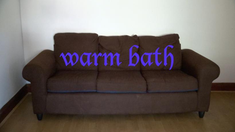 Lucy Clout, Warm Bath, 2016, HD video, 10 min, 8 sec