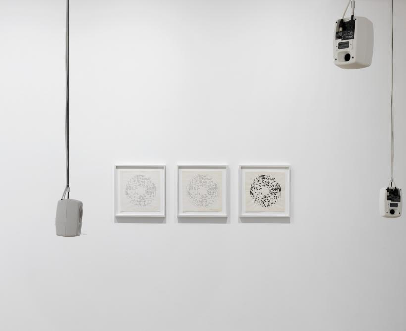 Exhibition view Channa Horwitz, Raven Row, 2016