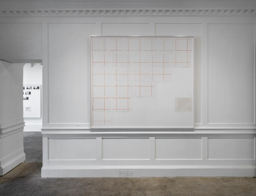 Channa Horwitz, Language Series II, 1964-2004, Casein paint on graph paper
