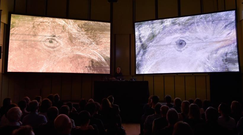 'Syn_' by Ryoichi Kurokawa at the Liverpool Philharmonic, 2016