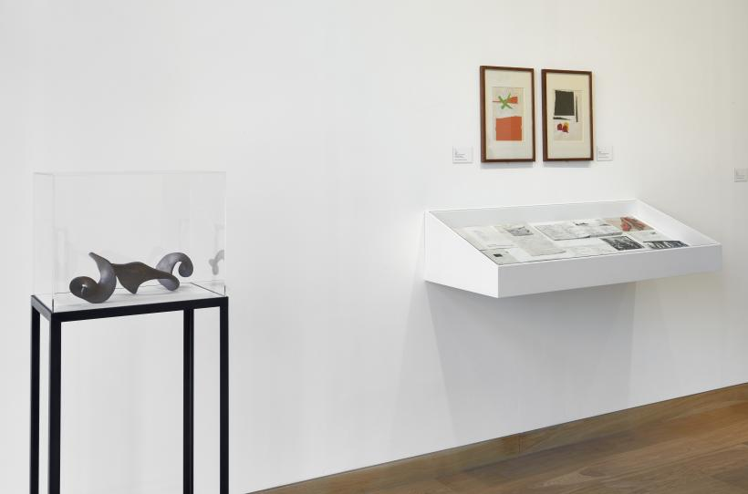 Installation view, Barry Flanagan, Animal, Vegetable, Mineral at Waddington Custot Galleries, 4 March-14 May 2016