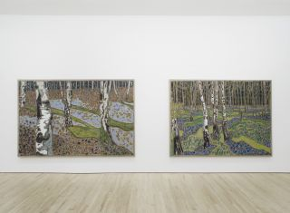 Installation view, Billy Childish the house at grass valley