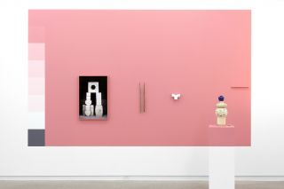 Surplus (Pink Wall) installation view, 2015