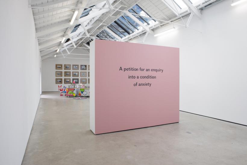 Joanne Tatham & Tom O'Sullivan, Installation view 'A petition for an enquiry into a condition of anxiety', The Modern Institute, Osborne Street, Glasgow, 2016