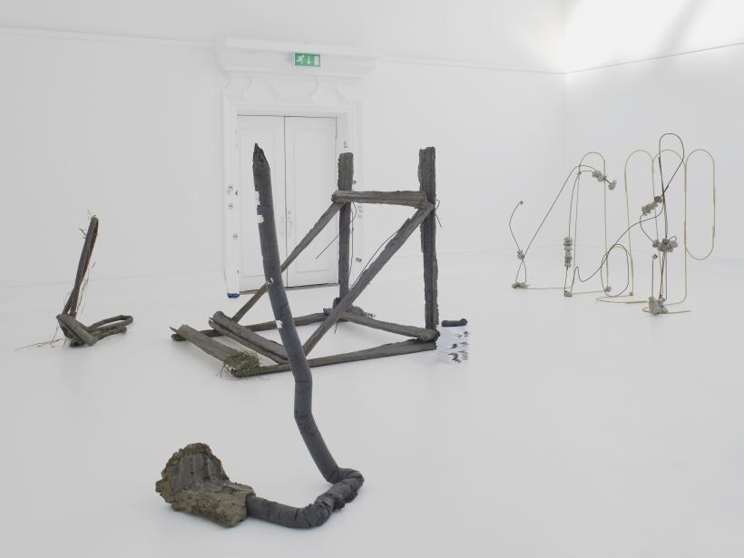 Michael Dean, Sic Glyphs, installation view at the South London Gallery, 2016