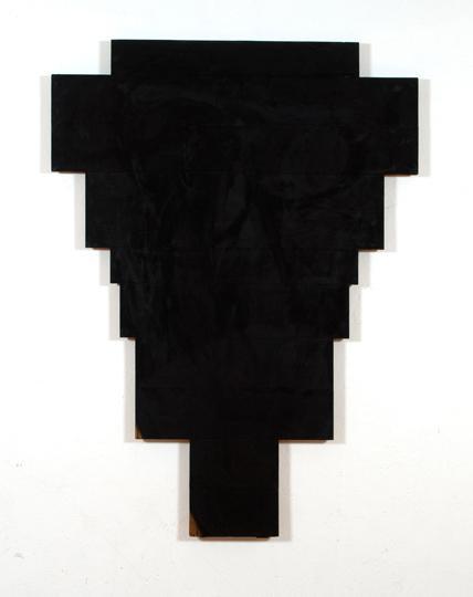 11Arnulf Rainer, Kreuz Schwarz auf Hellbraun, 1969, Oil on Wood, 202 x 150 cm