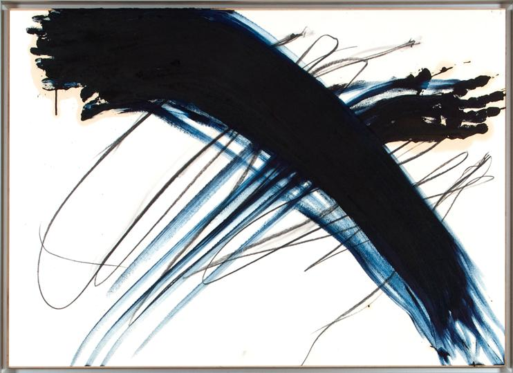 13Arnulf Rainer, Ohne Titel, ohne Jahr, Grease crayon, Oil on cardboard on wood, 74 x 102,5 cm