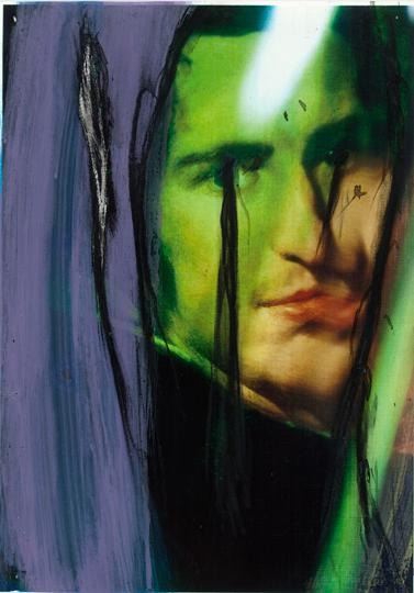 1Arnulf Rainer, Ohne Titel (Alte Pinakothek Series), 2010, Acrylic on Laserprint, 42 x 29,7 cm