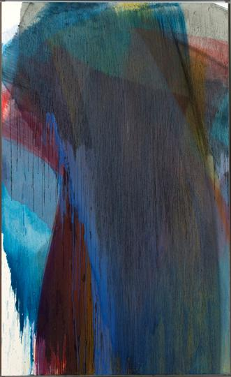 5Arnulf Rainer Ohne Titel, 1996 Limewater color on wooden panel 198 x 121 cm