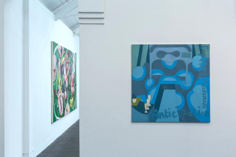 Installation view featuring Dale Lewis and Francesca Blomfield