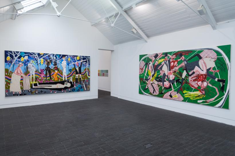 Installation view with Dale Lewis