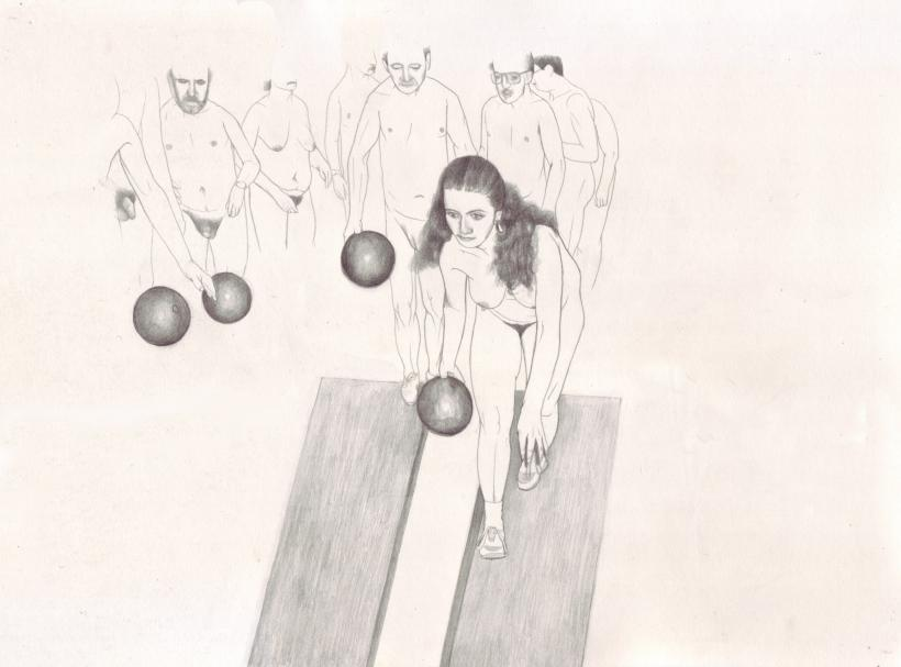 Erica Eyres, Bowling (2015) Courtesy of the Artist and Lisa Kehler Art + Projects