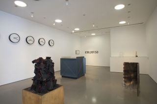 A Lesson in Sculpture with John Latham, installation view, 2016