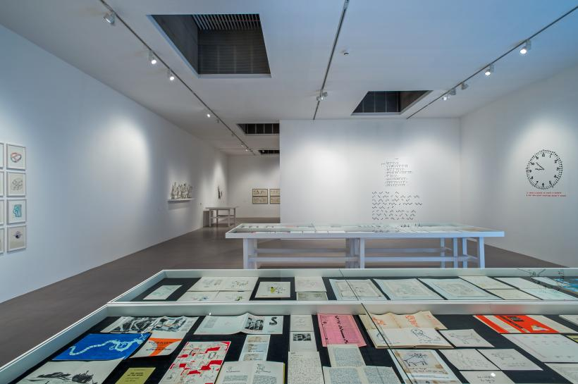 Installation view of Franciszka & Stefan Themerson, Books, Camera, Ubu, Camden Arts Centre, 2016