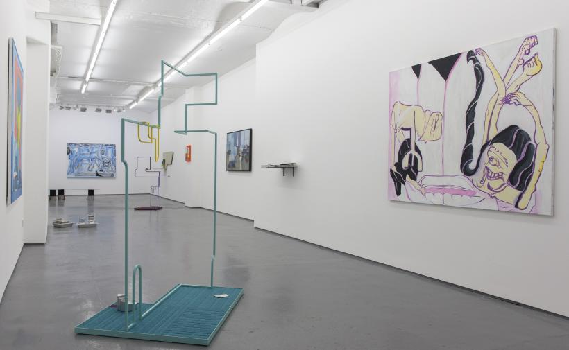 Installation view, Either Those Curtains