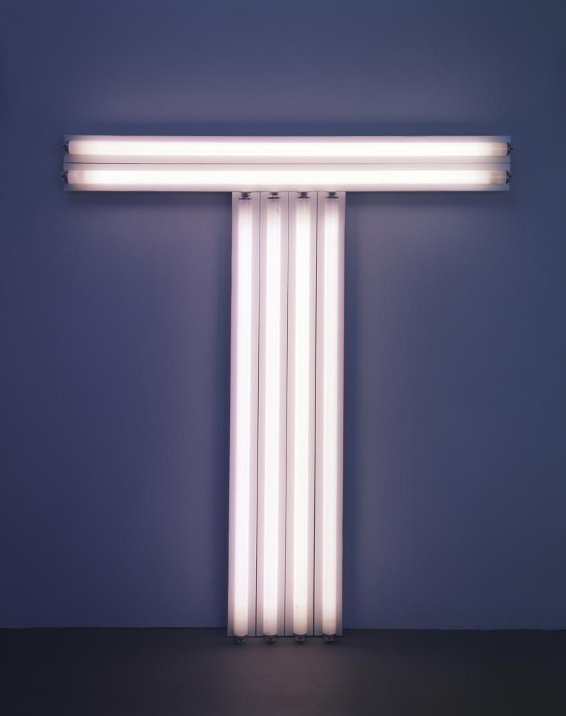 Dan Flavin untitled (to Don Judd, colorist) 1, 1987 pink fluorescent light 4 ft. (122 cm) high, 4 ft. (122 cm) wide © 2016 Stephen Flavin/Artists Rights Society (ARS), New York; courtesy of David Zwirner, New York/London
