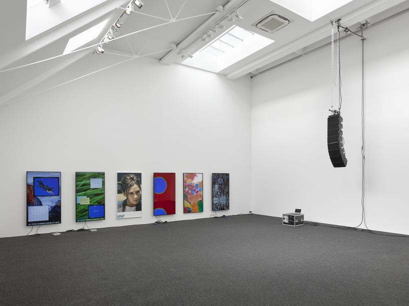 Cory Arcangel, currentmood. Installation view