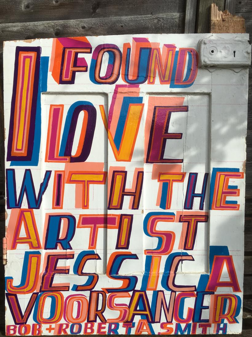 Bob and Roberta Smith, I Found Love, 2016