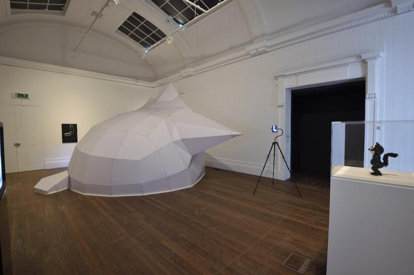 Mark Leckey: This Kolossal Kat, that Massive Mog, installation view at Grundy Gallery, Blackpool