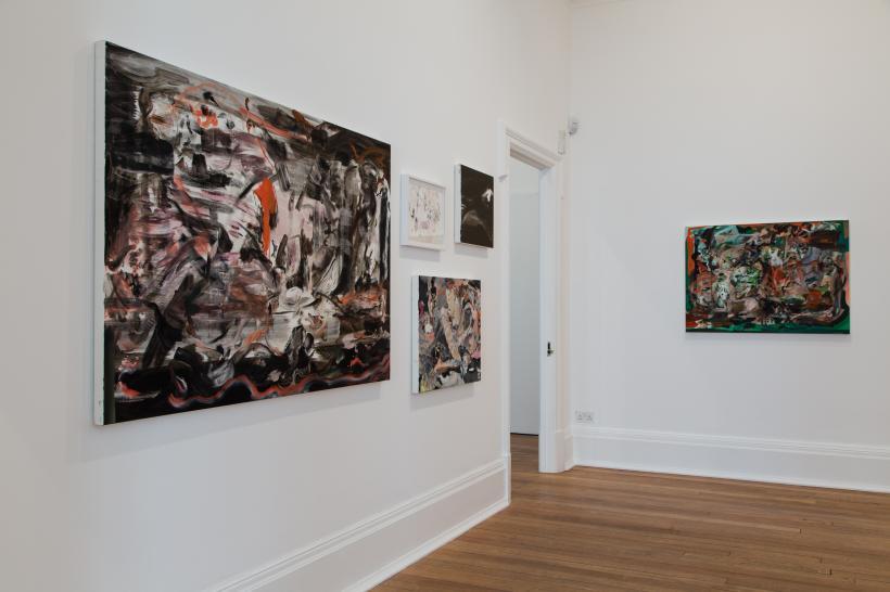 Cecily Brown, Madrepora, 2016. Installation view Thomas Dane Gallery, London.