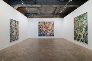 Cecily Brown, Madrepora, 2016. Installation view Thomas Dane Gallery, London.