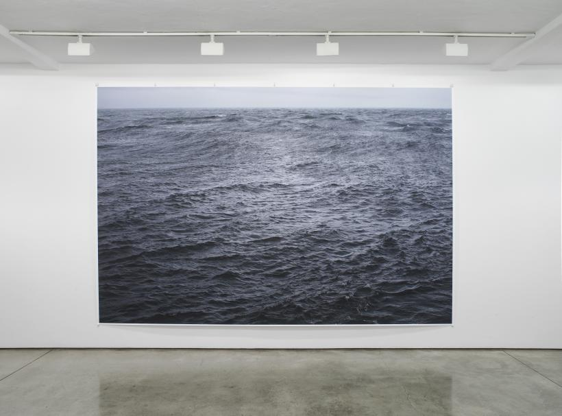 Wolfgang Tillmans, The State We're In, A, unframed inkjet print, 273 x 410 cm, 2015, exhibition view, ground floor gallery: Maureen Paley, London 2016